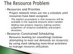 the resource problem