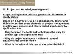 iii project and knowledge management