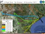 5 flight tests 26 october 8 november 2011