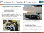 airborne test planning preparation