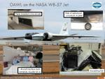 oawl on the nasa wb 57 jet