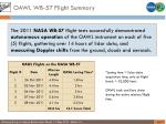 oawl wb 57 flight summary