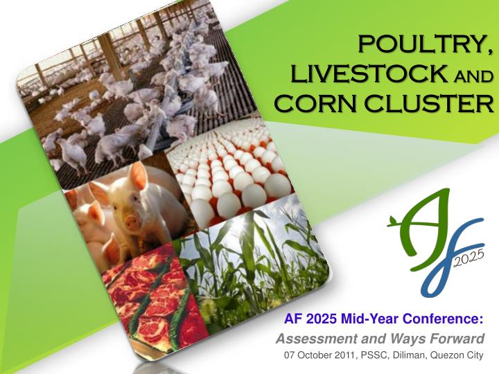 poultry livestock and corn cluster n.