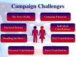 campaign challenges