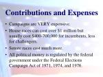 contributions and expenses