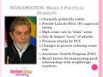invigoration brazil s political stability