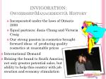 invigoration ownership management a history