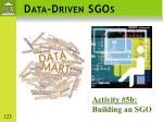 data driven sgos1