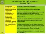introducing the sgo blueprint baseline data