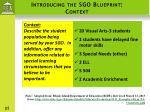 introducing the sgo blueprint context