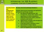 introducing the sgo blueprint learning content competencies