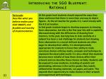 introducing the sgo blueprint rationale