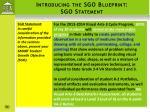 introducing the sgo blueprint sgo statement