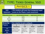 type tiered general sgo