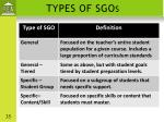 types of sgos