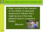 what do highly effective teachers do