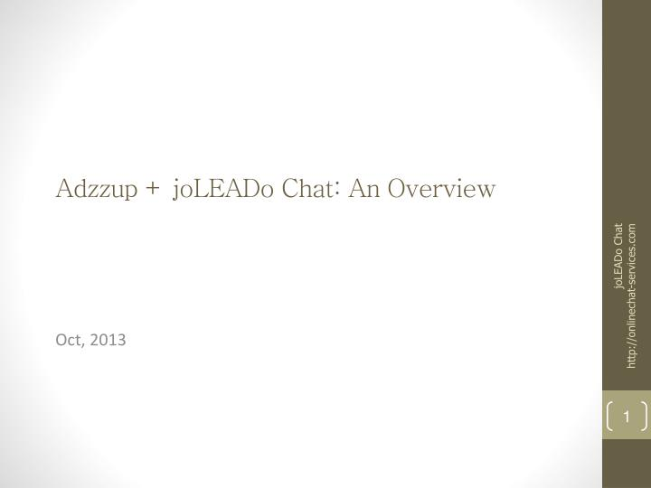 adzzup joleado chat an overview n.