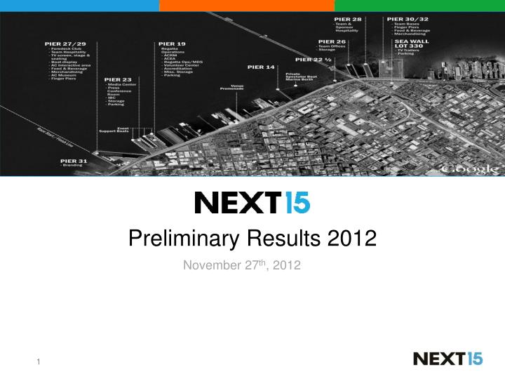 preliminary results 2012 n.