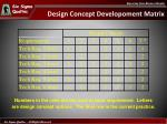 design concept developoment matrix