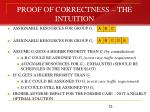 proof of correctness the intuition
