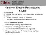 history of electric restructuring in ohio
