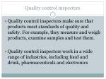 quality control inspectors