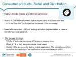 consumer products retail and distribution