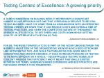 testing centers of excellence a growing priority2