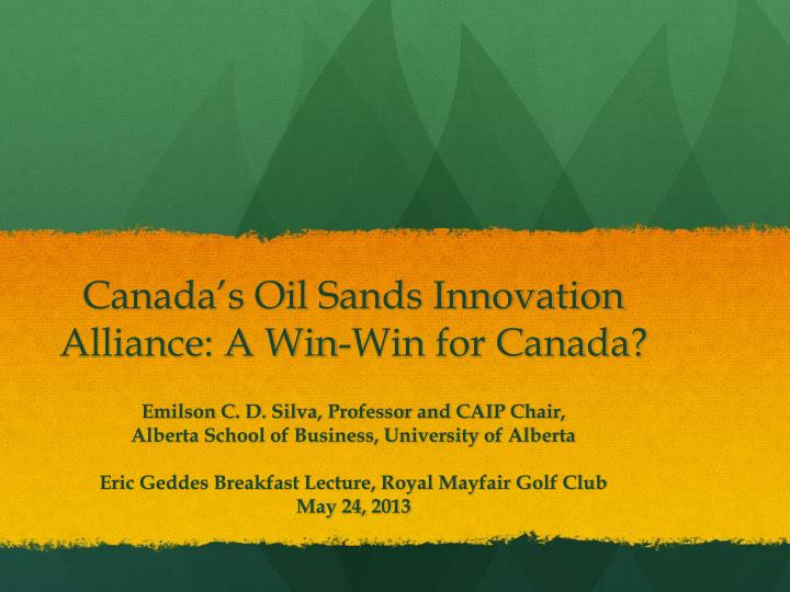 canada s oil sands innovation alliance a win win for canada n.