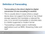 definition of transcoding