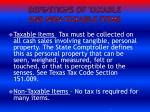 definitions of taxable and non taxable items