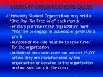 student organizations sales