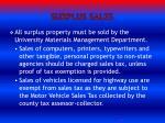 surplus sales