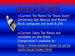 texas sales tax rates