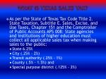 what is texas sales tax