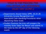 what is the process for collecting and depositing sales tax cont
