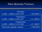sales quantity variance