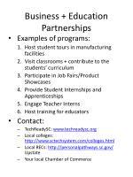 business education partnerships