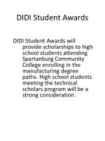 didi student awards