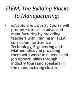 stem the building blocks to manufacturing