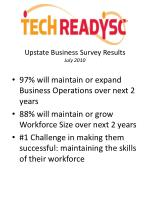 upstate business survey results july 2010