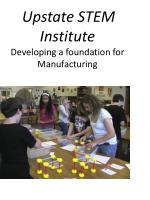 upstate stem institute developing a foundation for manufacturing