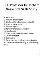 usc professor dr richard nagle soft skills study