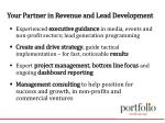 your partner in revenue and lead development