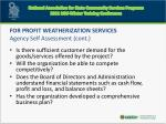 for profit weatherization services agency self assessment cont1