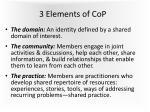 3 elements of cop