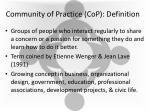 community of practice cop definition