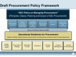 draft procurement policy framework