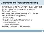 governance and procurement planning