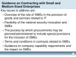 guidance on contracting with small and medium sized enterprises
